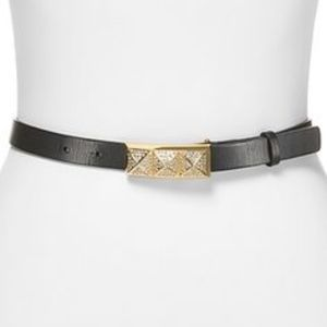 Michael Kors Crystal Pyramid Pave Leather Belt